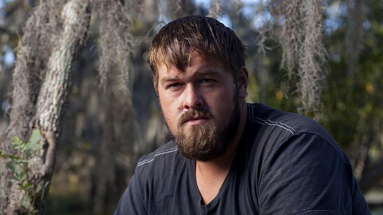 "Blake in ""Swamp People."""