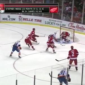 Petr Mrazek Save on Josh Bailey (02:48/1st)