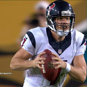 Houston Texans quarterback Case Keenum throws interception