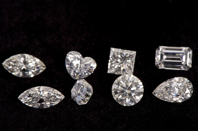 Different cuts of diamonds