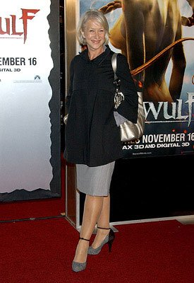 Helen Mirren at the Westwood premiere of Paramount Pictures' Beowulf