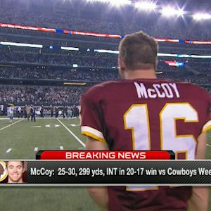 Washington Redskins quarterback Colt McCoy to start for Redskins vs. Colts