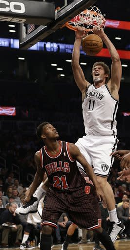 Bench carries Nets past Bulls, 93-89