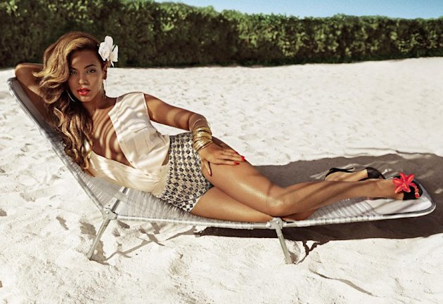 This undated promotional image released by H&M shows entertainer Beyonce in an ad for H&M's new summer advertising campaign. Beyonce will be featured on billboards, and in print ads and TV commercials. (AP Photo/H&M)