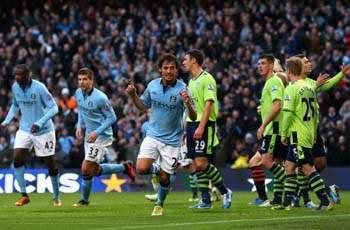 David Silva a doubt for Manchester derby with hamstring injury