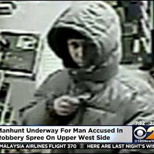 Manhunt Underway For Man Accused In UWS Robbery Spree