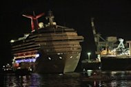 The Carnival cruise ship Triumph limps home to port in Mobile, Alabama on February 14, 2013