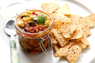 Strawberry Mango Kiwi Salsa