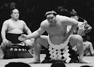 This picture taken in 1966 shows Taiho performing a ceremony during a tournament in Tokyo. Taiho, whose real name was Koki Naya, died of heart failure in hospital in Tokyo last month. He was 72