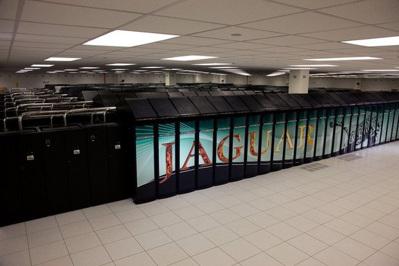 NVIDIA's new contest allows scientists to compete for a new supercomputing core suitable for a petascale supercomputer. This image shows a petascale Jaguar supercomputer at Oak Ridge National Laboratory..