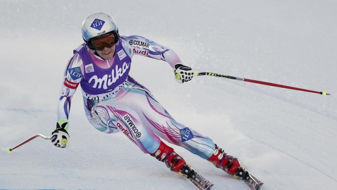 Liechtenstein's Weirather skis during the women's World Cup Downhill skiing race in Val d'Isere