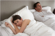 Photo by: iStockphotoYou've been arguing  If you two have been arguing a lot your spouse may be walking on egg shells these days. Maintaining distance may be their attempt to avoid getting into another argument.