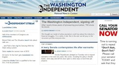 Washington Independent folds
