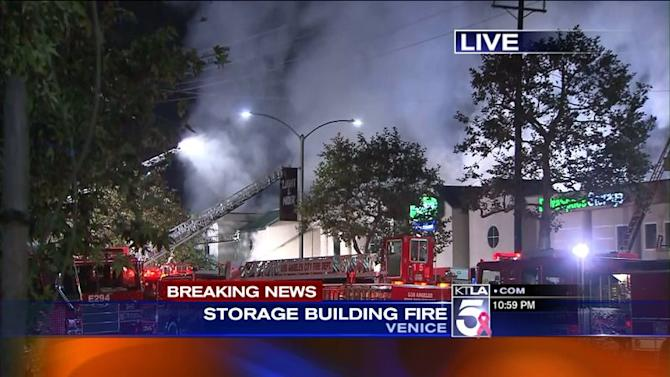3 Firefighters Injured Battle Stubborn Blaze at Venice Storage Facility