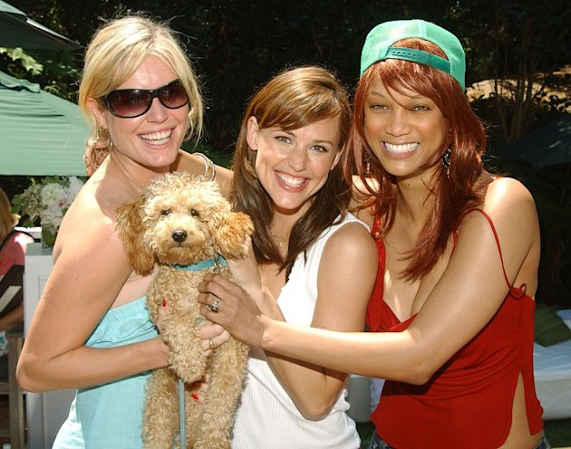 Rebecca Romijn her dog Better Jennifer Garner and Tyra Banks
