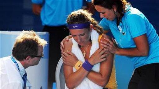 Tennis Star Takes Medical Timeout