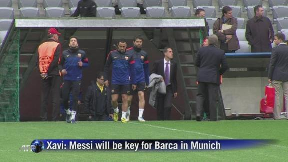 Messi will be Barca's key in Munich - Xavi