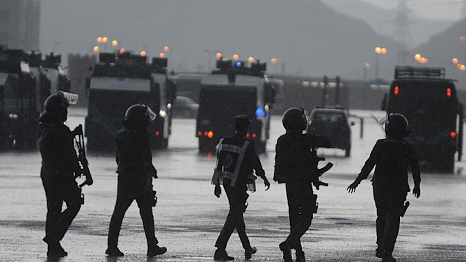 File picture shows members of the Saudi special police unit in Mecca