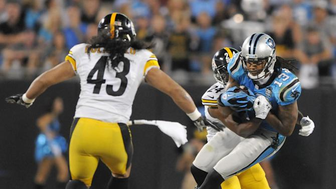 Steelers Taylor breaks arm in win over Panthers