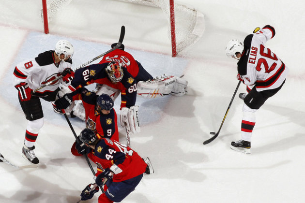  Marco Sturm #16 Of The Florida Panthers Breaks Awway From Ilya Kovalchuk #17 Of The New Jersey Devils In Game Five Of Getty Images