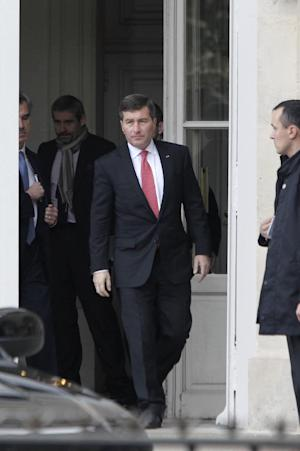 U.S Ambassador to France Charles H. Rivkin, right, …