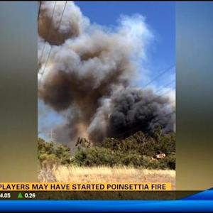 Golf players may have started Poinsettia Fire