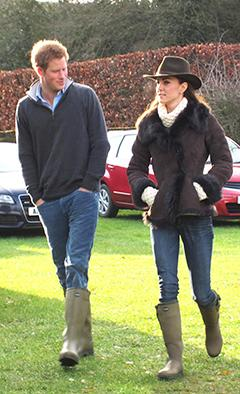 Prince Harry, Kate Middleton Don Matching Boots at Weekend Soccer Game