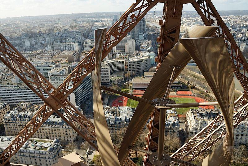The Eiffel Tower has new wind turbines, and they're beautiful