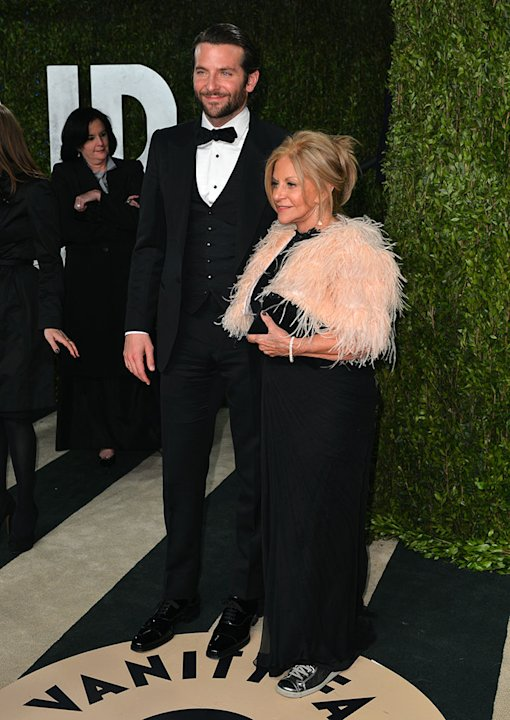 2013 Vanity Fair Oscar Party Hosted By Graydon Carter - Arrivals: Bradley Cooper and Gloria Cooper