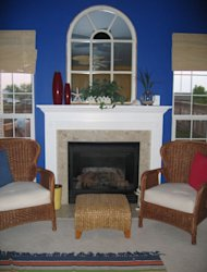 Make a fireplace your focal point.