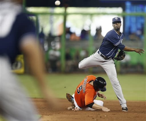 Mathis slam in 9th lifts Marlins over Padres 6-2