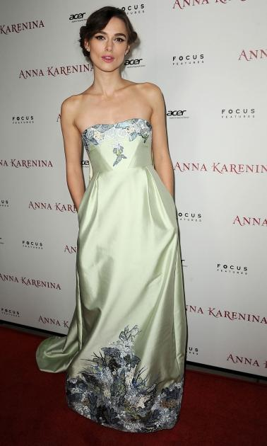 Keira Knightley arrives at the premiere of Focus Features' 'Anna Karenina' held at ArcLight Cinemas in Hollywood on November 14, 2012 -- Getty Images