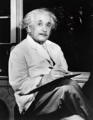 German-born Swiss-US physicist Albert Einstein