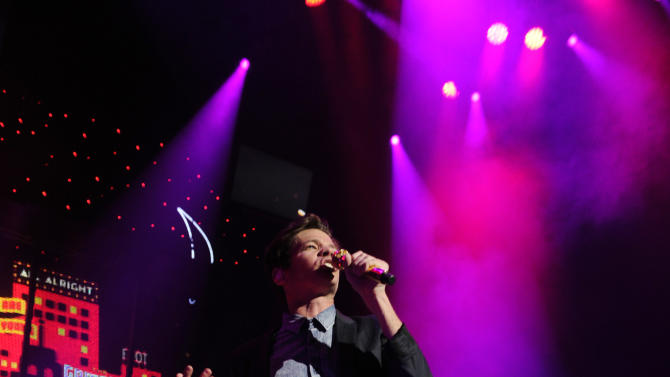 Nate Ruess of the band fun. performs at Radio City Music Hall on Saturday, Feb. 2, 2013 in New York City. (Photo: Bryan Bedder/Invision/AP)