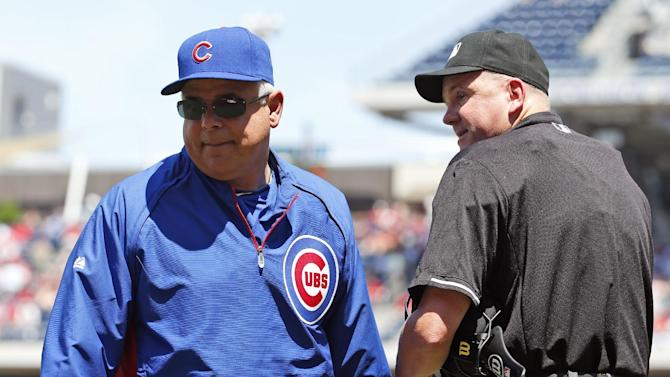 Cubs manager Renteria ejected over foul ball call