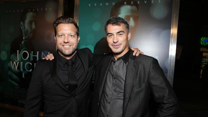 "Director David Leitch and Director Chad Stahelski seen at Summit Entertainment's ""John Wick"" Los Angeles Special Screening held at The Arclight Hollywood on Wednesday, Oct. 22, 2014, in Hollywood. (Photo by Eric Charbonneau/Invision for Lionsgate/AP Images)"