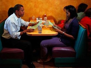 Michelle and Barack dine out!