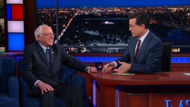 Stephen Colbert offers Bernie Sanders advice on how to win South Carolina