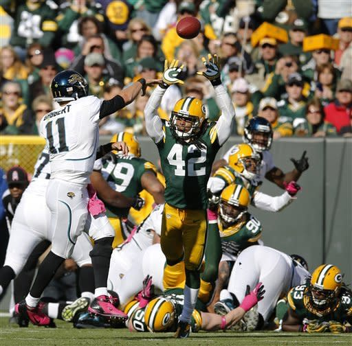 Rodgers throws 2 TDs as Packers beat Jaguars 24-15
