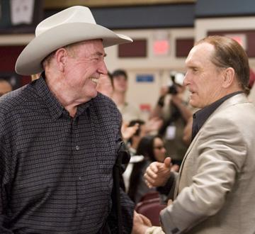 Doyle Brunson and Robert Duvall in Warner Bros. Pictures' Lucky You