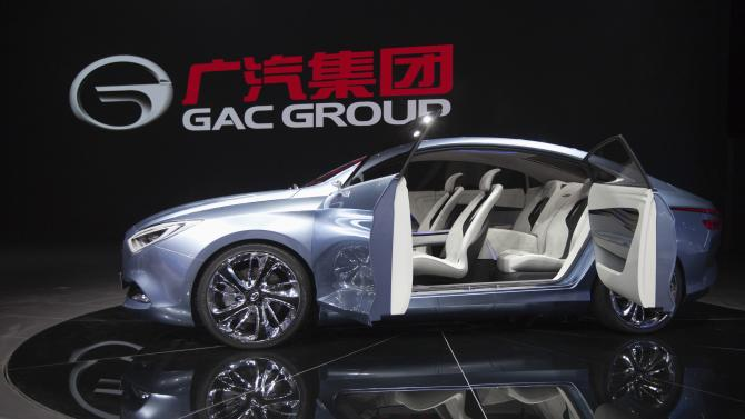 "File picture of a GAC concept electric car called ""E Jet"" displayed during the media preview of the 10th China International Automobile Exhibition in Guangzhou"