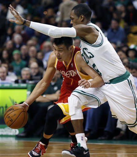Pierce scores 23 as Celtics beat Rockets 103-91