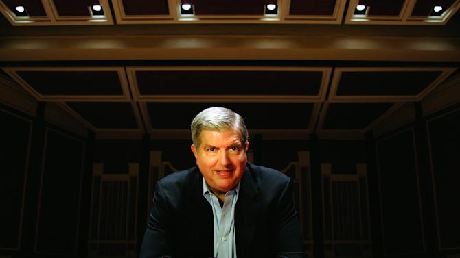 """FILE - This undated file image originally provided by Columbia Artists Management Inc. LLC shows Marvin Hamlisch. Friends and admirers of Marvin Hamlisch will gather Tuesday morning to bid farewell to the celebrated songwriter who was hailed as """"the people's composer."""" Hamlisch's funeral is to be held at Congregation Emanu-El, a prominent Upper East Side synagogue. The composer died Aug. 6 in Los Angeles at age 68. (AP Photo/Columbia Artists Management Inc. LLC, Jason Cohn)"""
