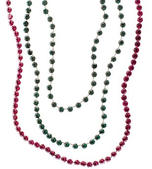 Red and green jewel necklaces, Feb 13, p36