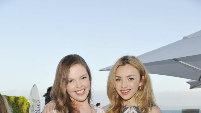 Miranda May and Peyton List seen at Peyton List Hosts a Private Party at the Infinity Audio Beach House on Wednesday, July 29, 2015, in Malibu, Calif. (Photo by Eric Charbonneau/Invision for Talent Resources/AP Images)
