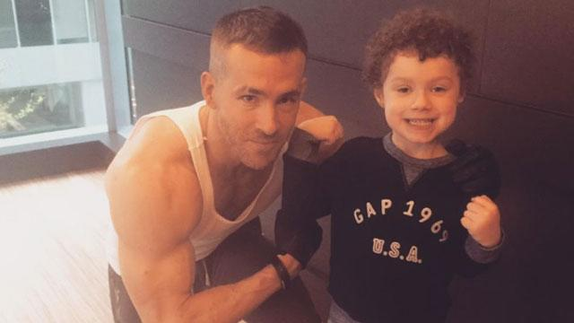 Ryan Reynolds Shows Off His 'Deadpool' Muscles with an Adorable Young Fan