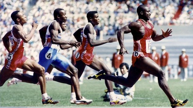 If anti-doping regulations had been strictly enforced, American Calvin Smith (fourth left) would have left the Seoul Games as 100m champion.