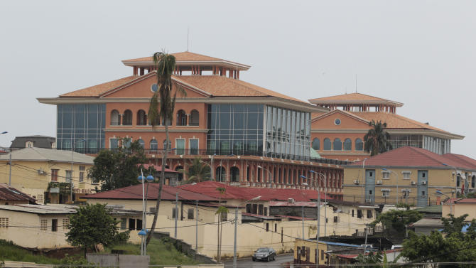 The new Presidential Palace, completed earlier this year, stands over central Malabo, Equatorial Guinea, Wednesday, June 29, 2011. African heads of state were arriving in the tiny, oil-rich central African nation Wednesday ahead of the start of the 17th African Union Summit, which opens Thursday in a specially-built luxury complex outside Malabo. (AP Photo/Rebecca Blackwell)