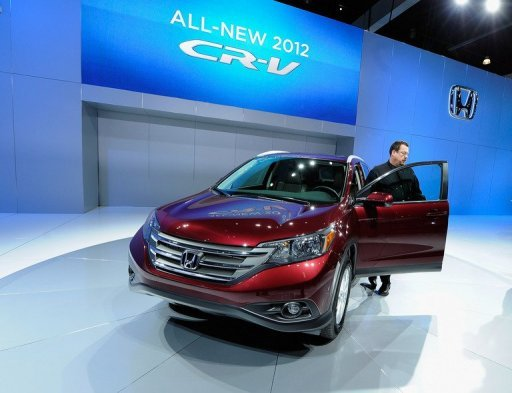 <p>The new Honda 2012 CR-V is unveiled at the LA Auto Show on November 16, 2011 in Los Angeles, California. Honda will recall some 268,000 CR-V sport utility vehicles sold in the United States due to the risk of power window switches catching fire in case of water penetration, a report said.</p>