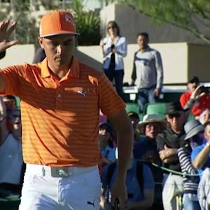 Rickie Fowler holes 14-footer in playoff at Waste Management